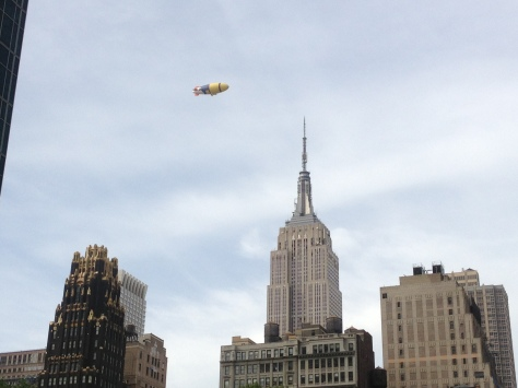 Blimp Lands on Empire State Building?