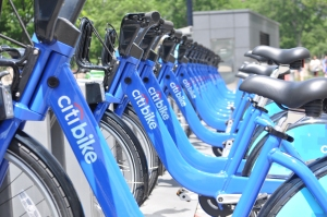 Citibikes All in a Row