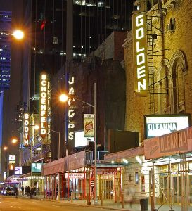 The NYC Theater District Photo: CC-BY-SA-3.0/Matt H. Wade