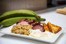 Located in the heart of the Dominican neighborhood of Washington Heights, Malecon Restaurant offers up a hearty breakfast called Cuatro Golpes (the 4 hits) based around the traditional mangu.